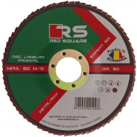 Disc lamelar frontal, pentru otel / inox, Red Square, 115 x 22 mm, granulatie 40