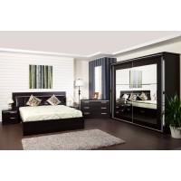 Dormitor complet Allegro, wenge, 5 piese, 18C