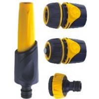 Duza de stropit, PVC, debit reglabil + stut robinet + cuple furtun