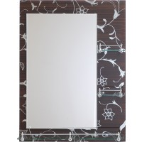 Oglinda baie E230, 60 x 80 cm, 3 etajere