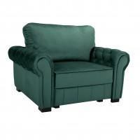 Fotoliu extensibil Eco Chester, stofa, verde, 1C