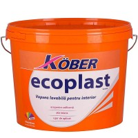 Vopsea lavabila interior, Ecoplast, alba, 3 L