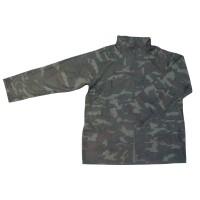 Jacheta de protectie, impermeabila, PVC + poliester + nilon, camuflaj / bleumarin / kaki, marimea XXL