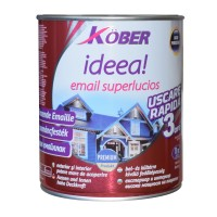 Vopsea alchidica pentru lemn / metal, Kober Ideea, interior / exterior, verde luminos, 10 L