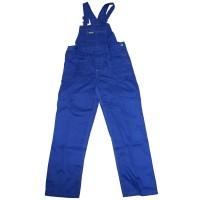 Pantaloni salopeta pentru protectie, tercot, albastru, marimea 60