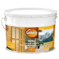 Lac / lazura pentru lemn, Sadolin Extra, brad, interior / exterior, 10 L