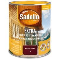 Lac / lazura pentru lemn, Sadolin Extra, mahon inchis, interior / exterior, 0.75 L