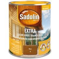 Lac / lazura pentru lemn, Sadolin Extra, nuc, interior / exterior, 0.75 L