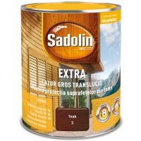 Lac / lazura pentru lemn, Sadolin Extra, tec, interior / exterior, 0.75 L