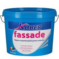 Vopsea lavabila exterior, Kober Fassade, alba, 8.5 L