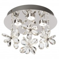 Plafoniera LED Floris 01-1601, 4 x 3W, crom cu decoratiuni transparente