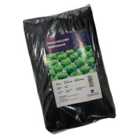Folie pentru mulcire, perforata, neagra, 30 mic, 25 x 25 cm, 10 gauri x D 50 mm, 2.5 x 50 m