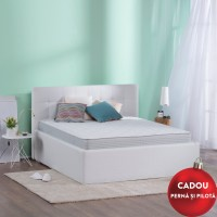 Saltea pat Dormeo Fresh Prima II, 1 persoana, cu spuma memory + Ecocell, cu arcuri din spuma, 80 x 200 cm