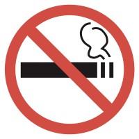 Indicator fumat interzis Sun Prints, PVC, rotund, 18 x 18 cm