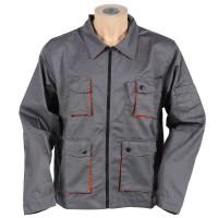 Jacheta de protectie Gantex EJ261 Desman, poliester si bumbac, gri + portocaliu, cu buzunare, marimea 46