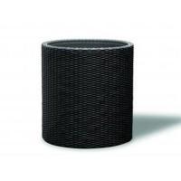 Ghiveci din plastic cu finisaj ratan sintetic Curver, pentru exterior, negru D 36 cm