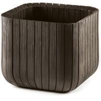 Ghiveci din plastic Curver, pentru exterior, patrat, maro auriu 39.5 x 39.5 x 39.5 cm