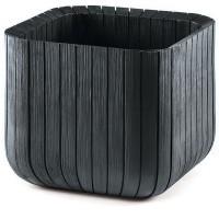 Ghiveci din plastic Curver, pentru exterior, patrat, negru 39.5 x 39.5 x 39.5 cm