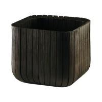 Ghiveci din plastic Curver, pentru exterior, patrat, maro auriu 29.7 x 29.7 x 29.7 cm