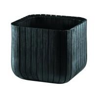 Ghiveci din plastic Curver, pentru exterior, patrat, negru 29.7 x 29.7 x 29.7 cm