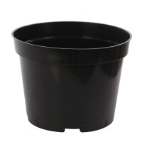 Ghiveci rasad, plastic, negru, D 17 cm