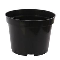 Ghiveci rasad, plastic, negru, D 12 cm