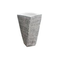 Ghiveci din beton Torino, alb, rotund, pentru exterior, 25 x 55 cm
