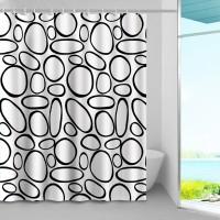 Perdea dus Graffiti, model geometric, 240 x 200 cm