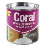 Grund pentru lemn pe baza de apa, Coral, 2.5 L