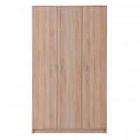 Dulap dormitor Hana 3K, stejar sonoma, 3 usi, 120 x 52 x 205 cm, 3C