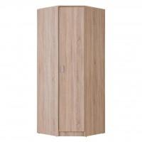 Dulap dormitor Hana pe colt, stejar sonoma, o usa, 80 x 80 x 205 cm, 2C