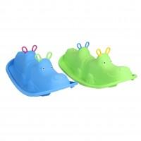 Balansoar copii, hipopotam, din plastic, interior / exterior, 103.5 x 45.5 x 34.5 cm