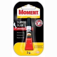 Adeziv universal, Moment Super Glue, transparent, 3 g