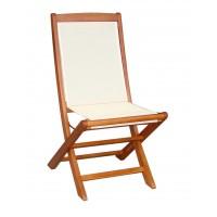 Scaun pentru gradina, pliant, 07068A, lemn, natur