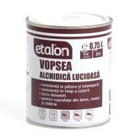 Vopsea alchidica pentru lemn / metal, Etalon, interior / exterior, neagra, 0.75 L
