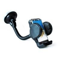 Suport auto pentru telefon mobil / GPS, plastic, negru, brate extensibile, L 20 cm