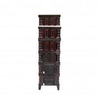 Soba teracota + marmura, pe lemne, Aba, 10 kW, 1560 x 465 x 465 mm