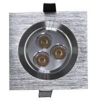 Spot LED incastrat MT 116 70319, 3W, lumina neutra, orientabil, aluminiu