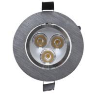 Spot LED incastrat MT 115 70317, 3W, lumina neutra, orientabil, aluminiu