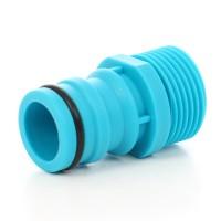 Adaptor robinet - furtun pentru irigatii gradina, 1 iesire, filet exterior, 25 mm, polipropilena, Cell Fast