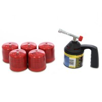 Arzator Rothenberger RoFlame + 5 cartuse gaz C200, 190 ml