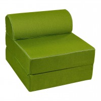 Fotoliu extensibil Bedora Essentia, stofa verde