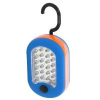 Lampa de lucru 24+3 LED Hoff, 1.5W, cu magnet, carlig, alimentare baterii