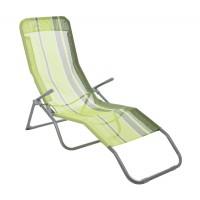 Sezlong plaja Siesta D10033D pliabil structura metal verde 145 x 59 x 50 cm