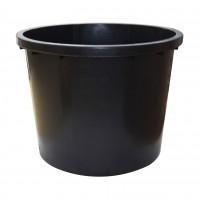 Butoi plastic Dolplast, fara capac, 500 litri, negru D 104 cm