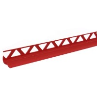 Profil PVC pentru colt interior, SET, rosu, 10 mm, 2.5 m