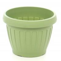 Ghiveci din plastic Dalia, verde oliv D 23 cm