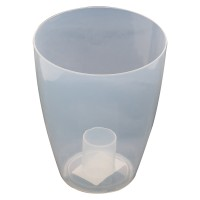 Ghiveci din plastic, pentru orhidee, Miltonia, transparent D 13.3 cm