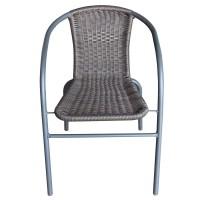 Scaun pentru gradina, Bistro 330.860, metal + polietilena, maro