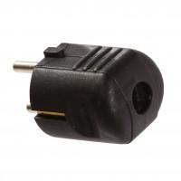 Fisa 44095L, contact de protectie, negru